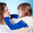 Smiling mom and child embracing — Stock Photo #5250549