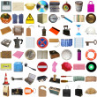 Many objects isolated — Foto Stock
