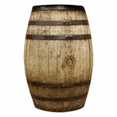 Wine or beer barrel cask — Stock Photo