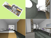 House interior model — Stock Photo