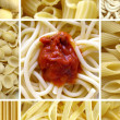 Pasta collage — Stock Photo #4740990