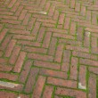 Stock Photo: Brick sidewalk pavement