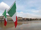 Flags, Turin, Italy — Stock Photo