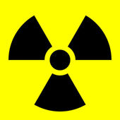 Radiation symbol — Stock Photo