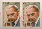 Bobbio stamp — Stock Photo