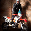 Stock Photo: Motorcycle rider