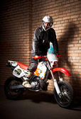 Motorcycle rider — Stock Photo