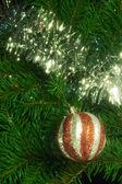 Christmas decoration with shiny glare — Stock Photo