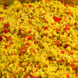 Pilau with vegetables - Stock Photo