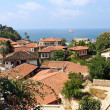 View of small village on the Mediterranean coast — Stock Photo