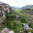 Panoramic view of Arco (Trentino, North-Italy), famous for the rock climbing competition Rock Master . — Stock Photo