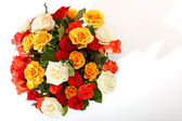 Rose bouquet on the white background — Stock Photo