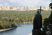 View from Vladimirskaya hill, Kiev, Ukraine — Stock Photo