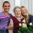 Portrait of grandmother and grandchildren — Stock Photo