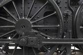 Steam engine wheel — Stockfoto