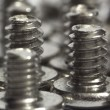 Shiny screws macro — Stock Photo