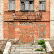 Old dilapidated building of red bricks — Stock Photo #4224887