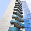The wall of modern building with balconies — Stock Photo