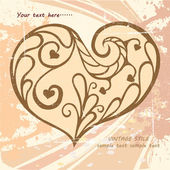 Vintage ornamental heart — Stock Vector