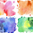 Stock Photo: Four watercolor textures