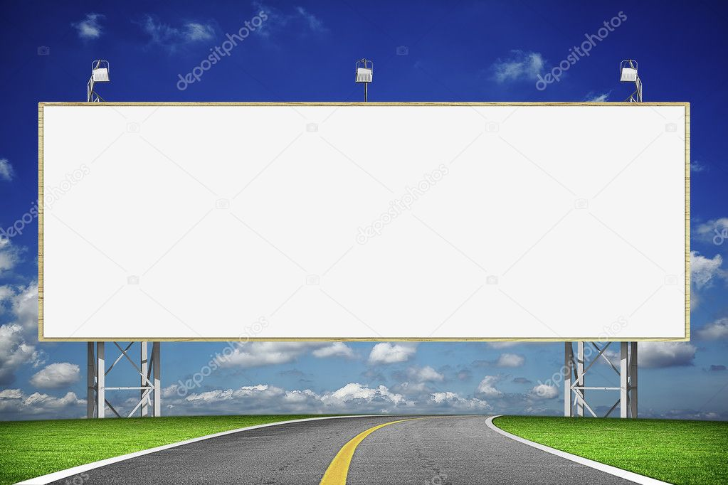 Highway and blank billboard  Stock Photo #5266693