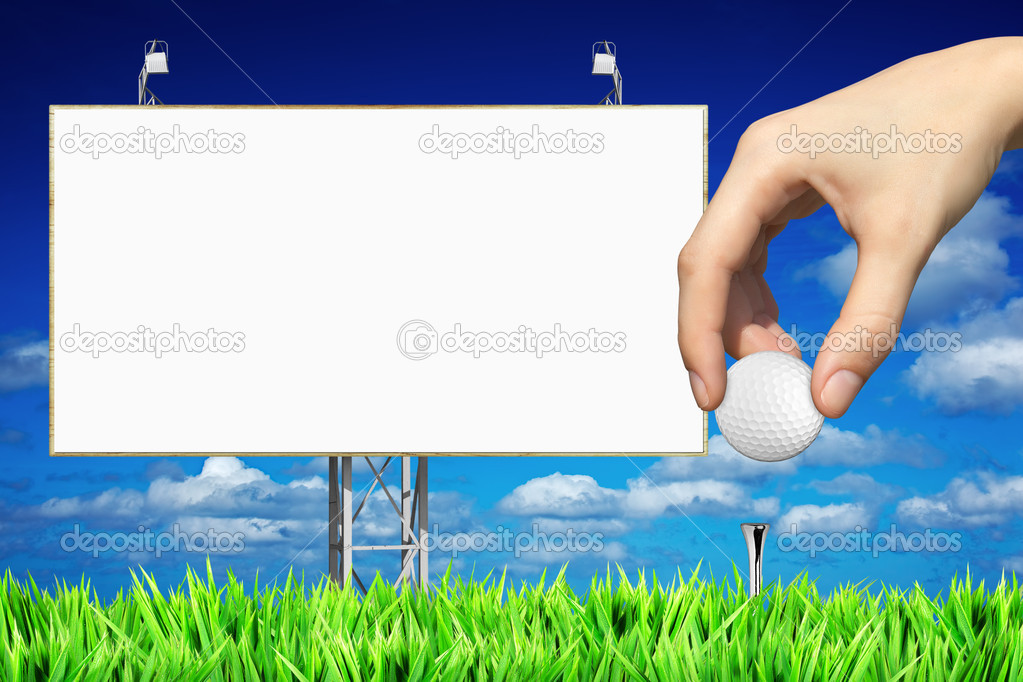 Advertising of golf events  Stock Photo #5267039