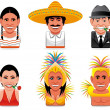 Avatar world icons(mexican,argentinian,brazilian) — Stock Photo #3940599