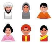 Avatar world icons(arabian,japanese,indian) — Stock Photo