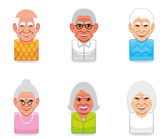 Avatar icons (senior) — Stock Photo