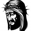 Jesus with crown of thorns — Stock Photo