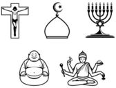 Religious symbols — Stock Photo