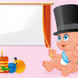 New year baby celebration — Stock Photo