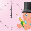 New year baby celebration — Stock Photo