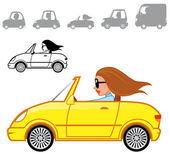 Cartoon vehicles series — Stock Photo