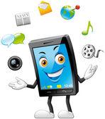 智能手机特性 — 图库照片