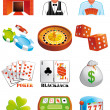 Stock Photo: Casino icons