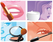 Woman cosmetics — Stock Photo