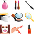 Beauty and cosmetic icons — Stock Photo #4836471