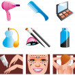 Beauty and cosmetic icons — Stock Photo #4859753
