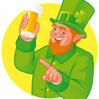 Leprechaun toast — Stock Photo