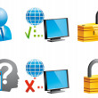 Internet icons - Stock Photo