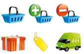 Shopping online icons — Stock Photo