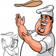 Stock Photo: Pizzchef