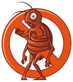 Pest extermination sign — Stock Photo