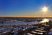 The port of Hamburg — Stock Photo