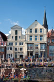 Mercado de temporada en lueneburg — Foto de Stock