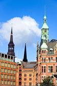 The warehouse district of Hamburg — Stock Photo