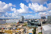 Hamburgs port city — Stock Photo