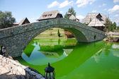 Lake in ethno village — Stock Photo