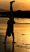 Handstand Silhouette — Stock Photo